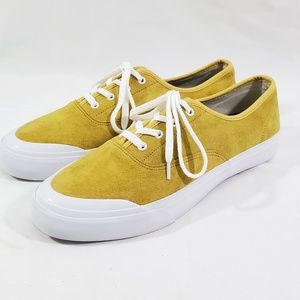 """HUF """"Cromer"""" Sneakers Yellow Mens Size 10 Leather"""